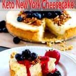 slice of keto new york cheesecake