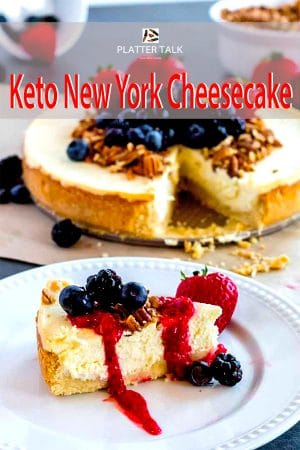 slice of keto new york cheesecake