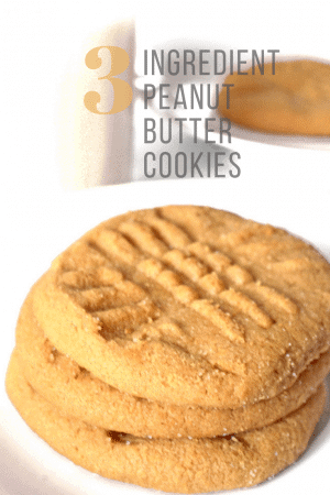 Stack of peanut butter cookies with milk.