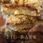 stack of homemade fig bars.