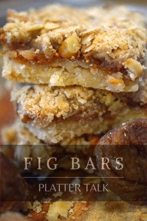 Photo of homemade fig bars that links to recipe.