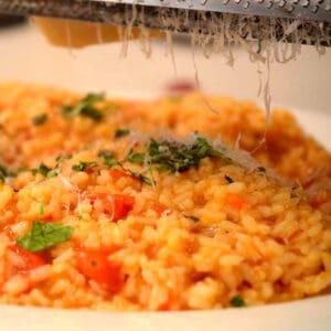 a dish of rissoto.