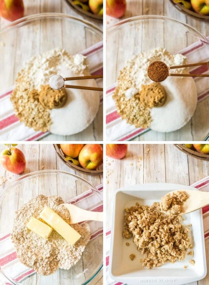 Photos of how to make oatmeal bars