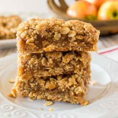 Oatmeal Bars with Apple Butter Filling