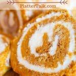Slice of pumpkin roll