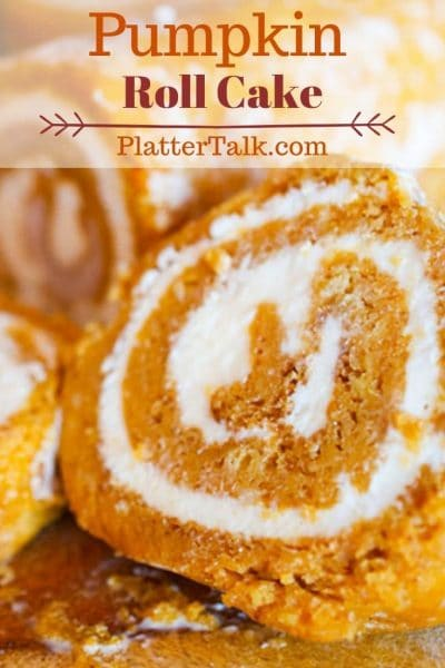 Slice of pumpkin roll