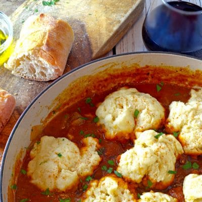 Hungarian Goulash (Gulyás) with Steamed Dumplings