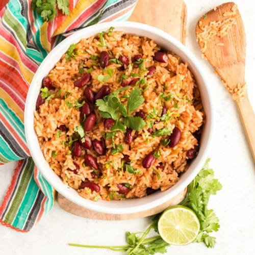 Spanish Rice And Beans Vegan Optional Platter Talk