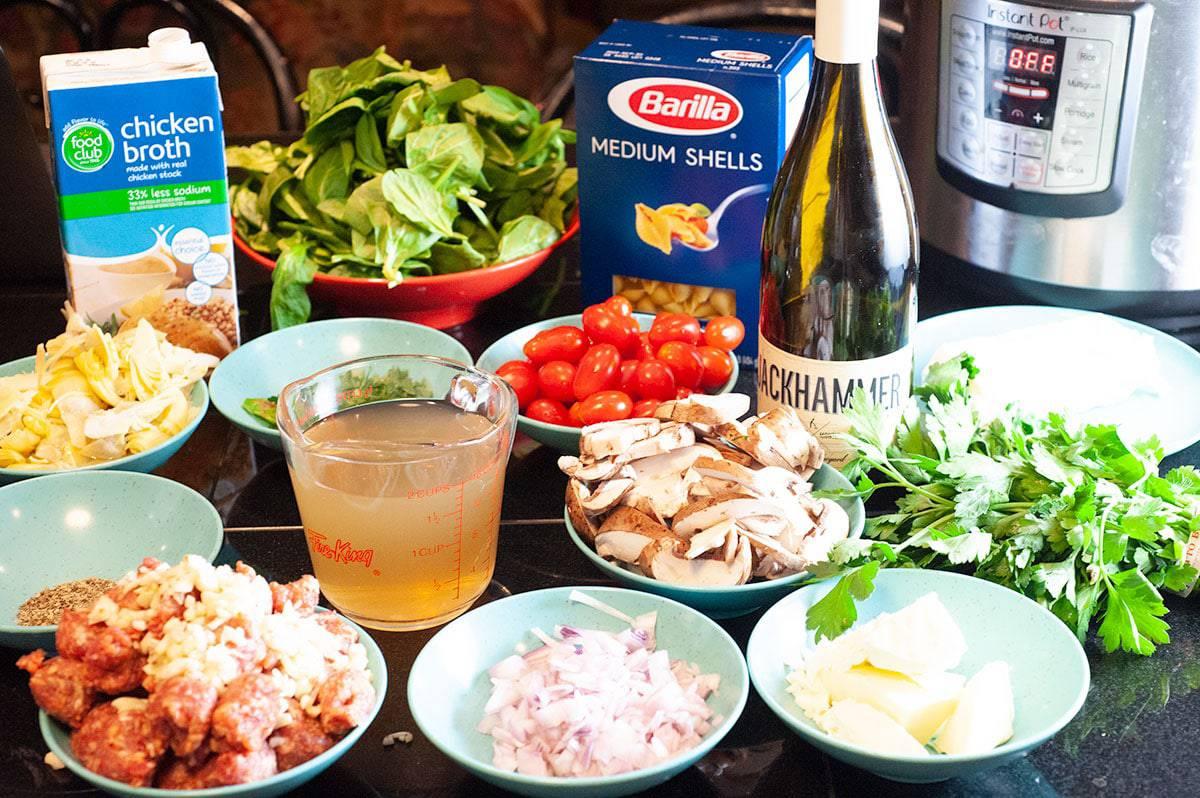 Ingredients for Instant Pot Pasta Recipe