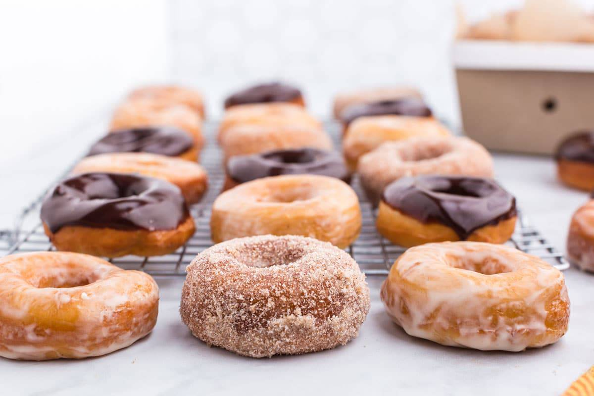 Donuts on a cooling rack