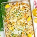 Pan of roasted fennel
