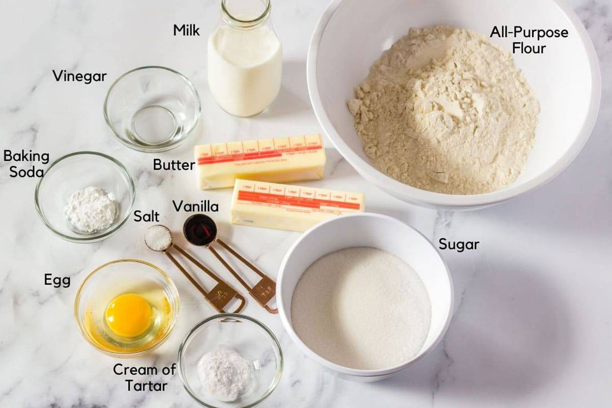 Flour and other cookie ingredients