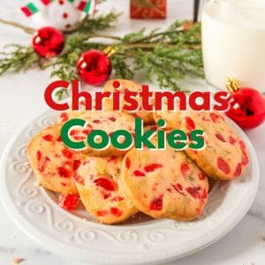 A plate of Chirstmas cookies