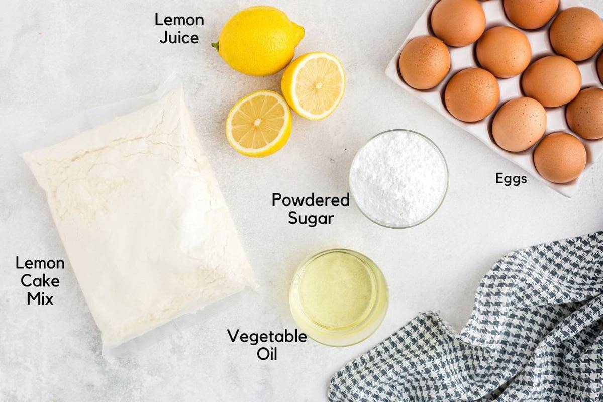 Eggs and other cookie ingredients