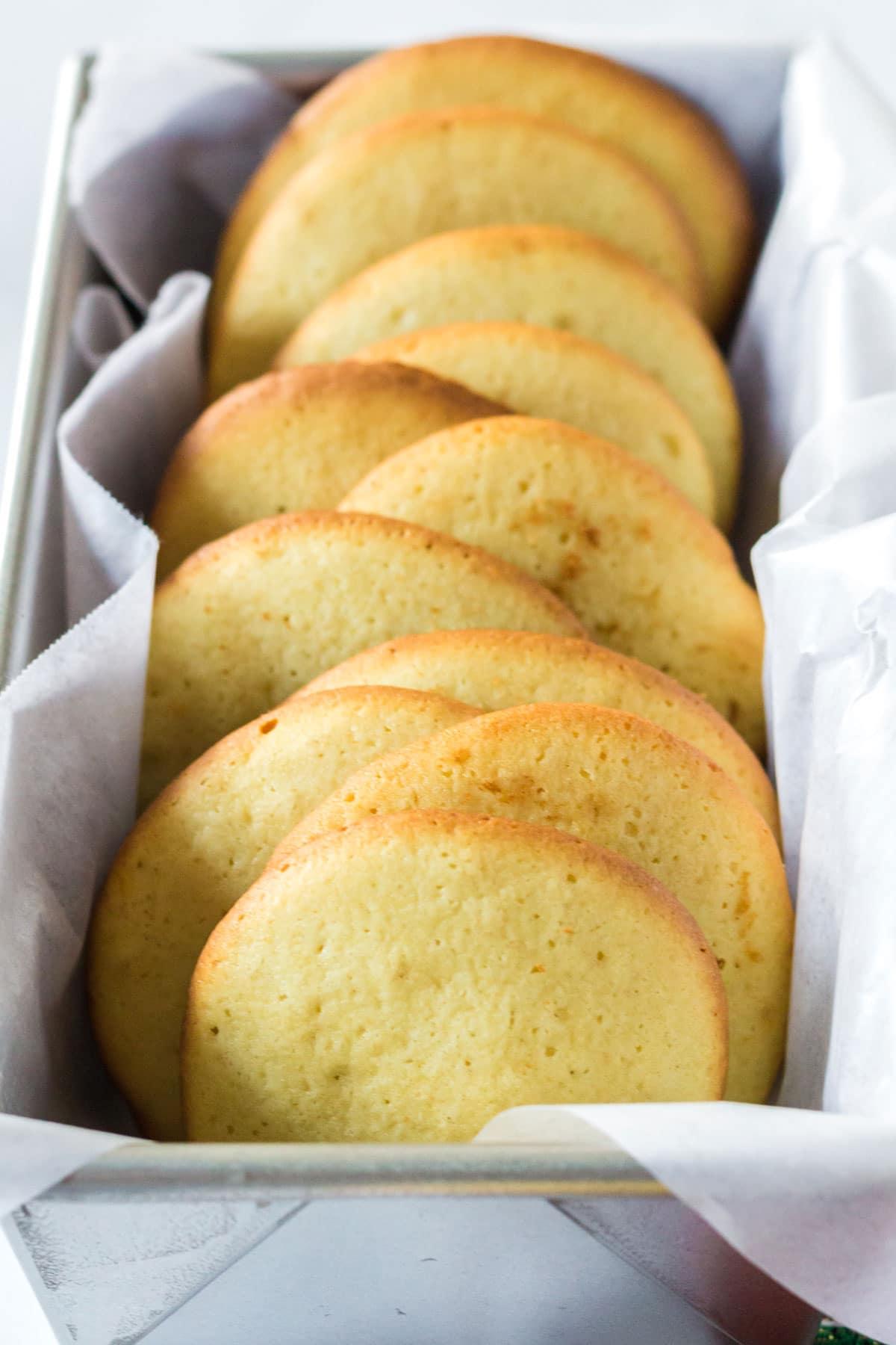 A pan of sugar cookies