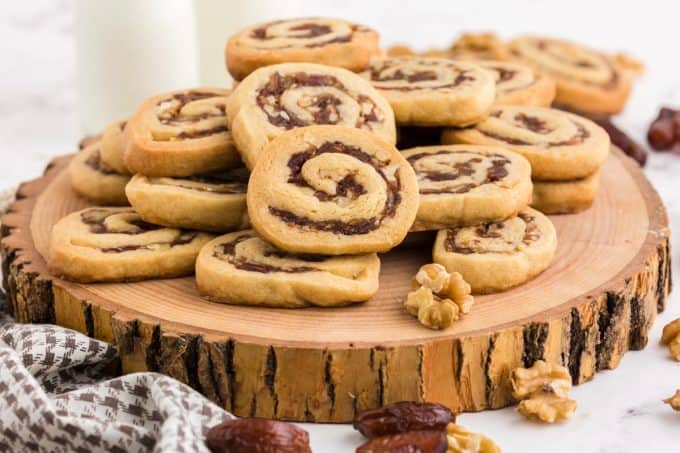 A bunch of date pinwheel cookies