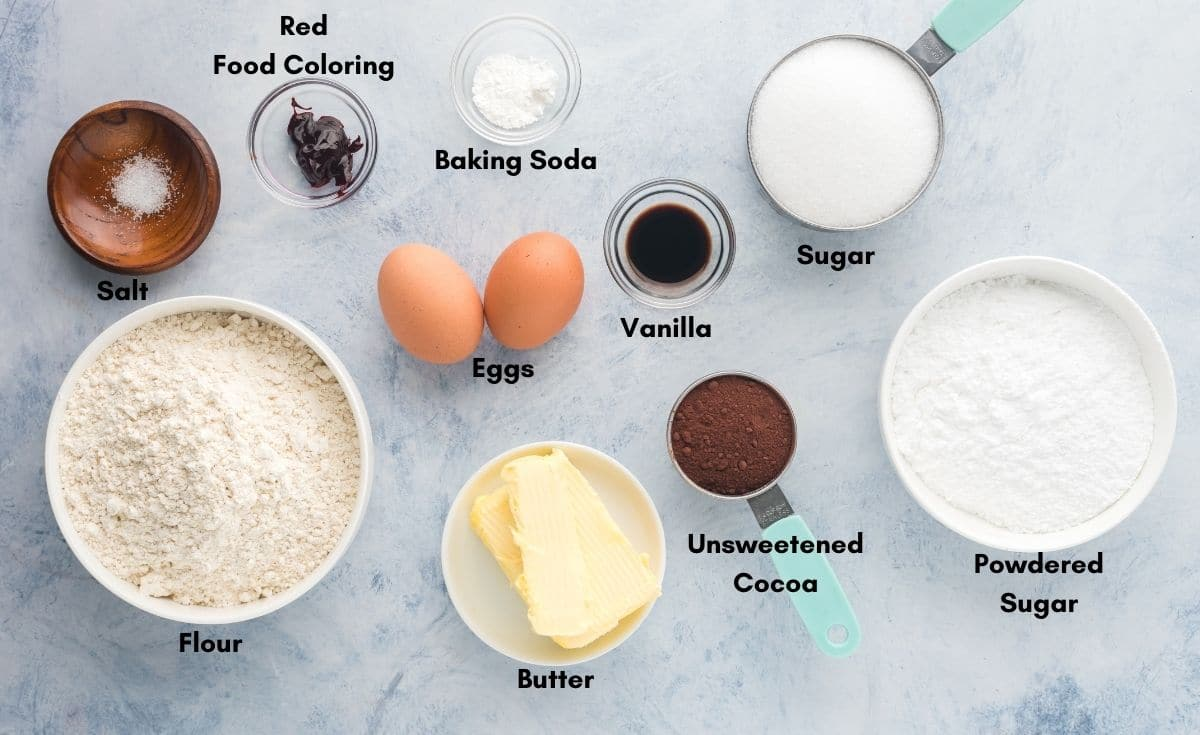 Flour and other ingredients to make cookies