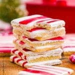 stack of peppermint sugar cookies